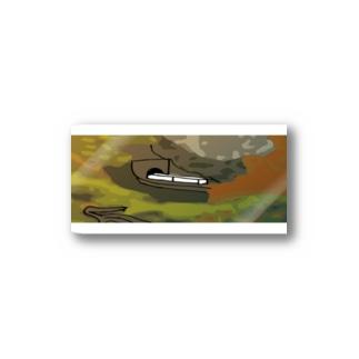 鳴子峡から覗く鉄道 Stickers