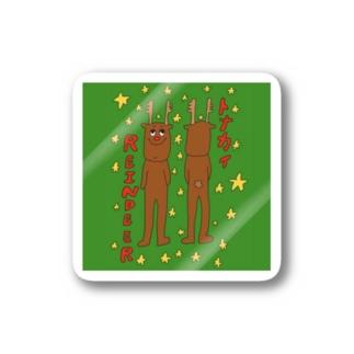 トナカイさんステッカー Stickers