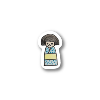 おかっぱの女の子 ひとみちゃん Stickers