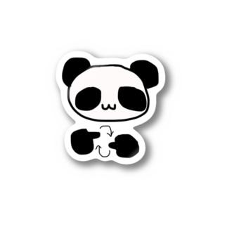 手話で手話を表現するパンダ Stickers