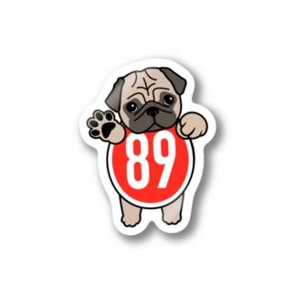 パグ-ぱぐ-PUG-パーグー グッズ Stickers
