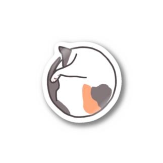 まんまる三毛猫 Stickers