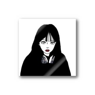 目定めガールステッカー Stickers