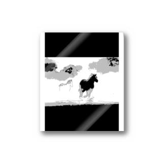 駆ける馬 Stickers