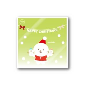 Christmas.クリスマス【ふぅふぅ犬】 Stickers