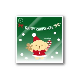 トイプードル【アンジー犬】Christmasクリスマス! Stickers