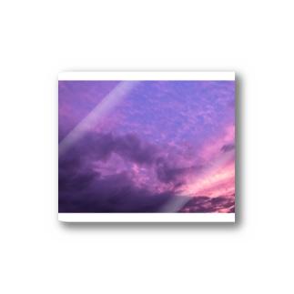 purple in the sky Stickers