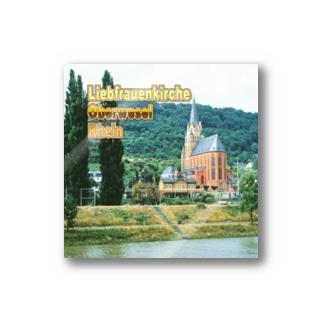 ドイツ:ライン川と教会 Germany: Church at Rhein/ Oberwesel Stickers
