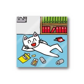 フセサクの帰省してゴロゴロしているネコ Stickers