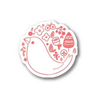 北欧風ロゴマーク文鳥 Stickers