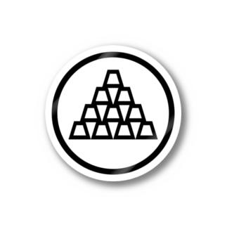 zikomankingオリジナル家紋 Stickers