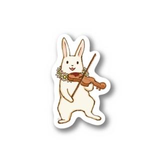 バイオリンうさぎ Stickers