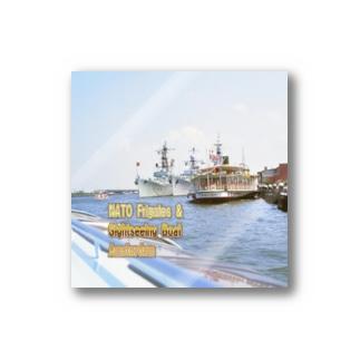 オランダ:NATOのフリゲート艦と観光船 Netherlands: NATO Frigates & Sightseeing Boat / Amsterdam Stickers