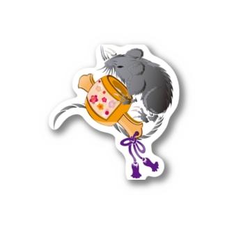 吉祥 ネズミ&小槌2020B Stickers