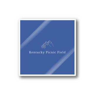 ケンタッキーピクニックフィールド 青 Stickers