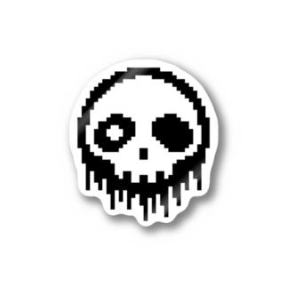 ドット絵ドクロ Stickers