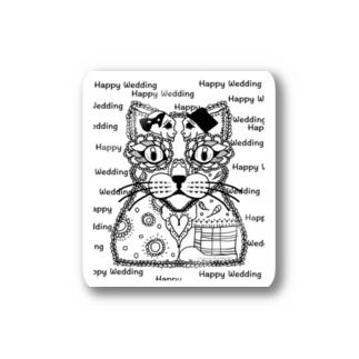 【ねこ×ドクロ】HAPPY WEDDING Stickers