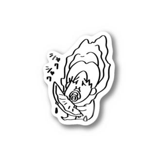 カキの子ちやちゃん レモン Stickers