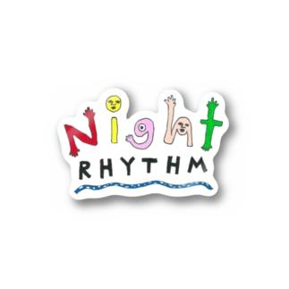 "Night Rhythm ""logo illustration"" series -Others- Stickers"