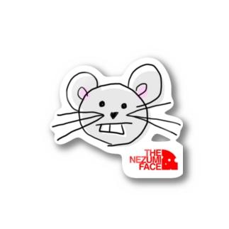 THE NEZUMI FACE NO.1 ステッカー Stickers