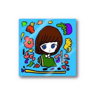 水色の中に漂う Stickers