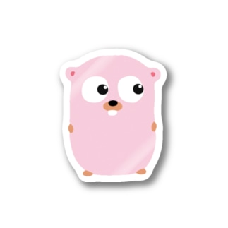 Gopherくん(pink) Stickers