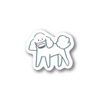 ふわふわトイプードル3 Stickers