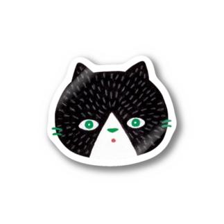 黒猫のにゃんご ステッカー