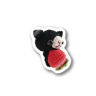 黒猫イチゴさん Stickers