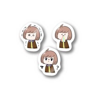 顔芸ステッカー 3点セット① Stickers