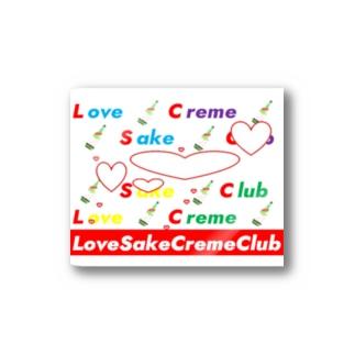 loveSakeCremeClub5th Stickers