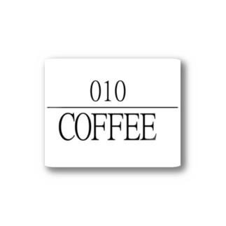 ゼロイチゼロショップの010coffee logo Stickers