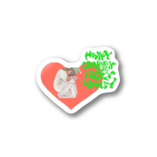 happy charmmy lucky wholly ガーリーおんなのこ Stickers