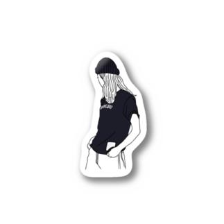 cap girl Stickers