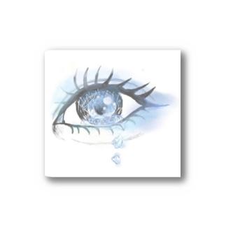 青い目 Stickers