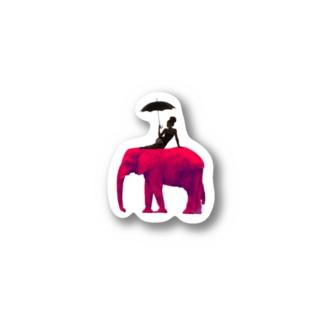 Sad Elephant Stickers
