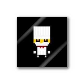 コックさん_voxel job character_02 Stickers