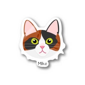 三毛猫の顔ステッカー Stickers