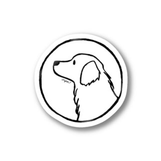 ゴールデン・レトリーバー〈線・円〉 Stickers