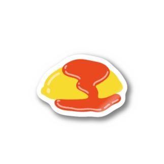 ケチャップドバドバおむらいす Sticker