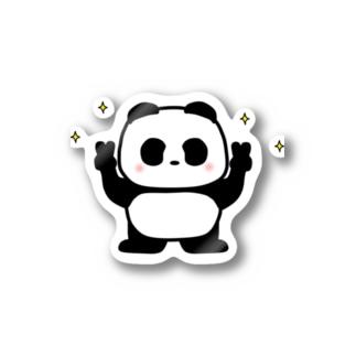 パンダの銀ちゃん(Vサイン) Stickers
