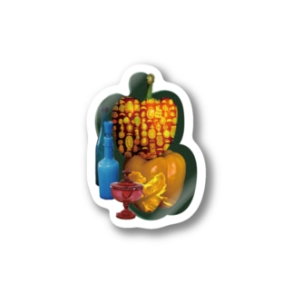 glowing paprika sticker Stickers