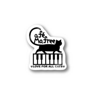 鍵盤を歩くネコ Stickers