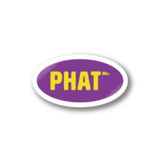 Oval Mr Phat Stickers
