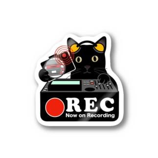 黒猫 ネコ 猫 ドラレコステッカー Stickers
