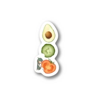 野菜嫌い子ちゃん Stickers