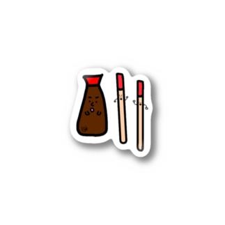 ソイソーサーとチョップスティッカーズ Stickers