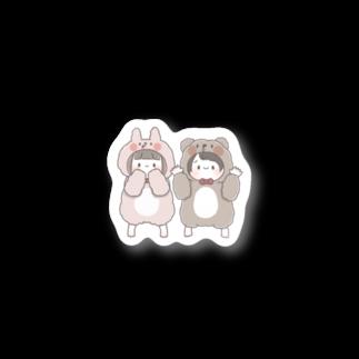 うさぎもちのなかよしきぐるみちゃん Stickers