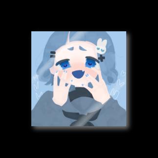もふこの青もふこの尊い図 Stickers