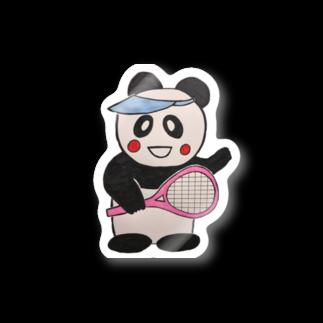 ル.ボヌールのテニス頑張るパンダちゃん Stickers